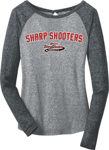Sharp Shooters Block Microburn Long Sleeve Raglan Tee