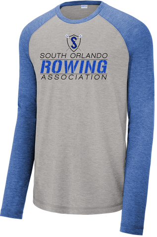 South Orlando Rowing Association Tri-Blend Wicking Raglan Tee