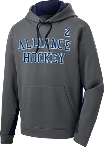 Alliance Twill Sport-Wick Fleece Colorblock Hoodie w/ Player Number