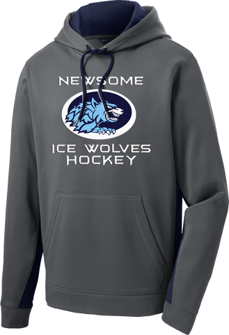 Newsome Ice Wolves Sport-Wick Fleece Colorblock Hoodie