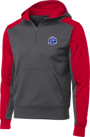 Freedom Hockey Colorblock 1/4-Zip Hooded Sweatshirt