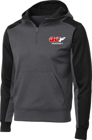 Gulf Coast Flames Colorblock 1/4-Zip Hooded Sweatshirt
