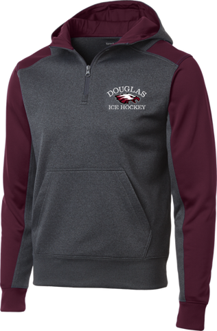 Eagles Hockey Colorblock 1/4-Zip Hooded Sweatshirt