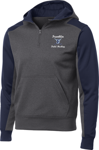 Franklin Field Hockey Colorblock 1/4-Zip Hooded Sweatshirt