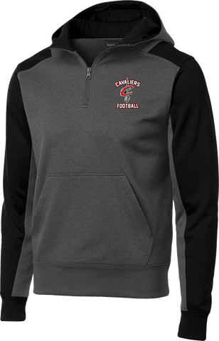 Cavaliers Football Colorblock 1/4-Zip Hooded Sweatshirt