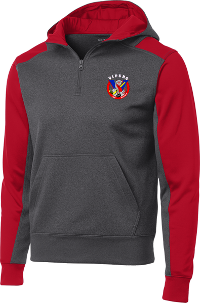 Vipers Colorblock 1/4-Zip Hooded Sweatshirt