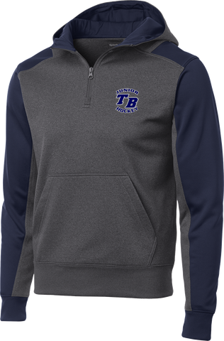 Tampa Bay Juniors Colorblock 1/4-Zip Hooded Sweatshirt