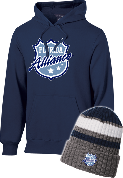 Alliance Printed Hoodie and Embroidered Beanie Bundle