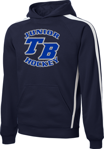 Tampa Bay Juniors Hockey Printed Stripe Pullover Hooded Sweatshirt