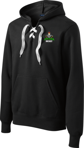 Applemen Hockey Logo Lace Up Hoodie