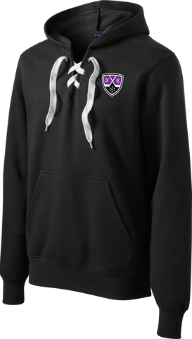 New England Hockey Club Logo Lace Up Hoodie