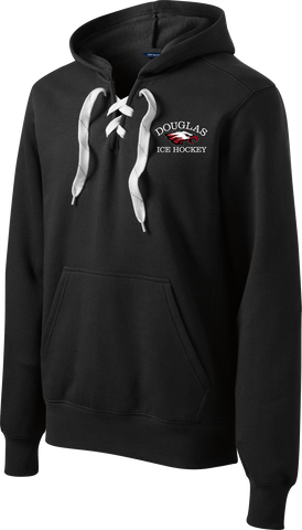 Douglas Hockey Logo Lace Up Hoodie