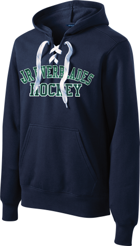 NAVY Custom Team Twill Block Lace-Up Hoodie