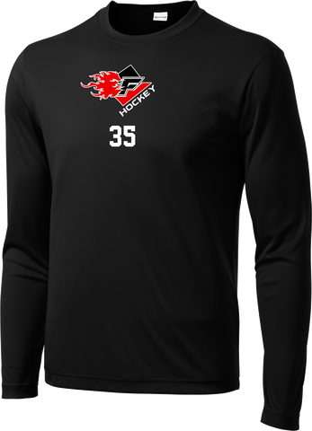 Gulf Coast Flames Long Sleeve Dri-Fit Tee with Player Number