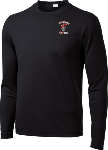 Cavaliers Football Long Sleeve Dri-Fit Tee with Player Number