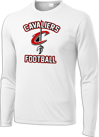 Cavaliers Football Logo Long Sleeve Dri-Fit Tee