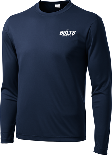 Jr. Bolts Long Sleeve Dri-Fit Tee with Player Number