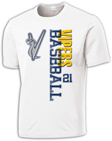 Vipers Baseball Rundown Dri-Fit T-Shirt w/ Player Number