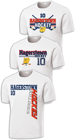 Hagerstown Bulldogs Hockey Center Ice Dri-Fit Tee