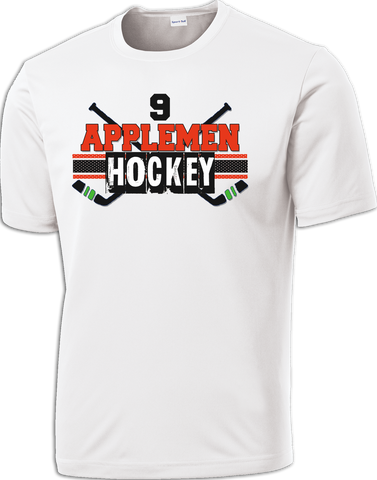 Applemen Hockey Cross Check Dri-Fit Tee w/ Player Number