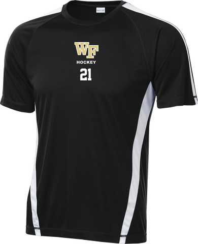 Wake Forest Hockey Colorblock Competitor Tee w/ Player Number