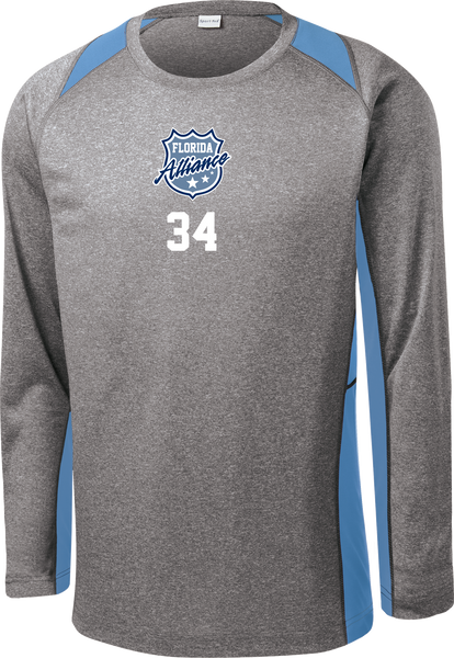 Alliance Long Sleeve Colorblock Contender Tee w/ Player Number