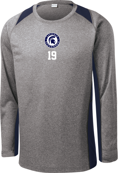 Spartans Long Sleeve Colorblock Contender Tee w/ Player Number