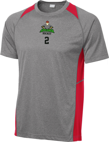 Applemen Hockey Heather Colorblock Contender Tee w/ Player Number