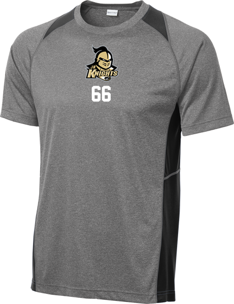 Jr. Knights Heather Colorblock Contender Tee w/ Player Number