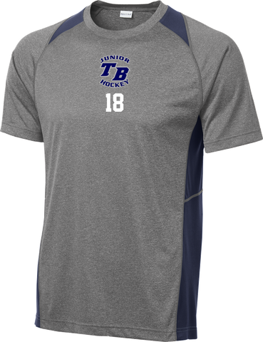 Tampa Bay Juniors Heather Colorblock Contender Tee w/ Player Number