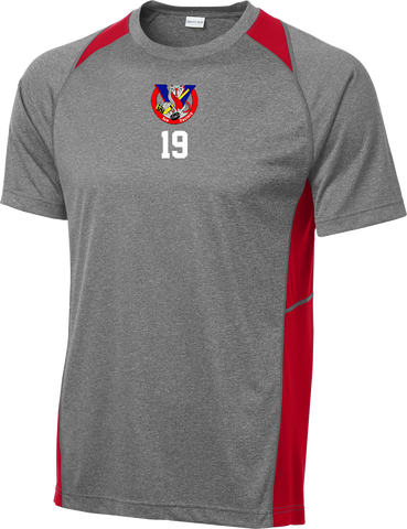 Vipers Heather Colorblock Contender Tee w/ Player Number