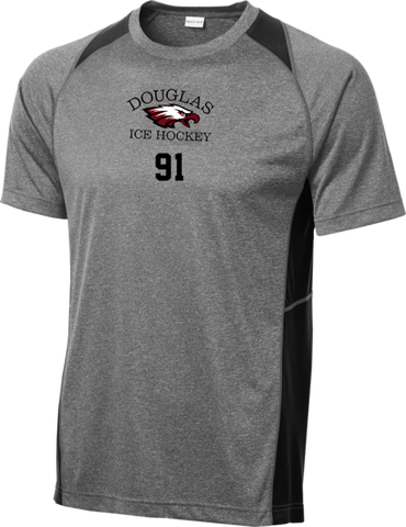 Eagles Hockey Heather Colorblock Contender Tee w/ Player Number