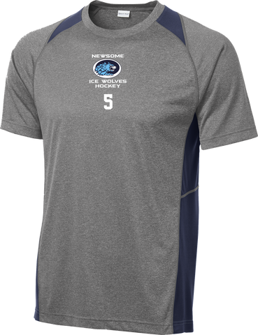 Newsome Heather Colorblock Contender Tee w/ Player Number