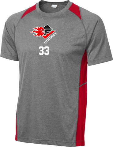 Gulf Coast Flames Heather Colorblock Contender Tee w/ Player Number