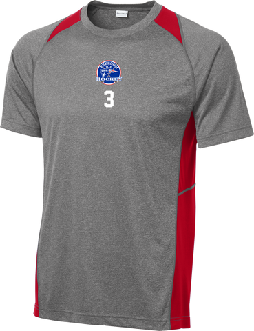 Freedom Hockey Heather Colorblock Contender Tee w/ Player #