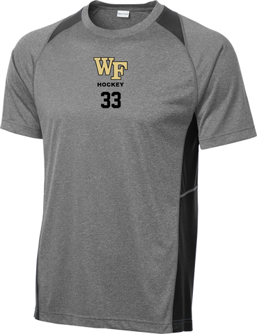 Wake Forest Heather Colorblock Contender Tee w/ Player Number