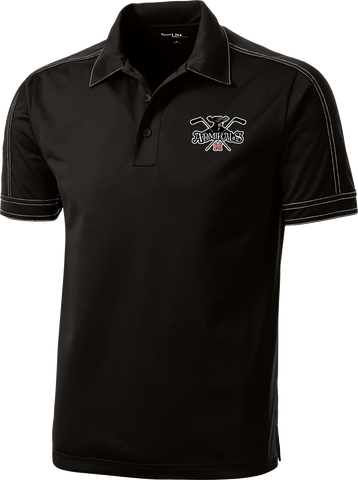 Admirals Hockey Contrast Stitch Micropique Polo