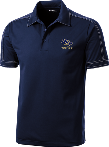 North Broward Prep Contrast Stitch Micropique Polo