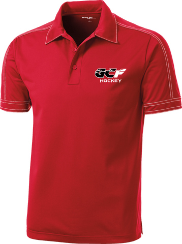 Gulf Coast Flames Contrast Stitch Micropique Polo