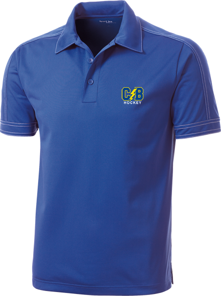 Cypress Bay Contrast Stitch Micropique Polo