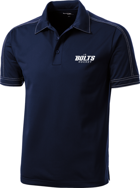 Jr. Bolts Contrast Stitch Micropique Polo