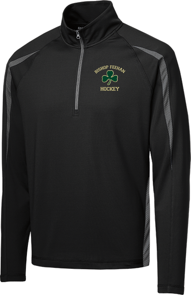 Bishop Feehan Stretch 1/2-Zip Colorblock Pullover
