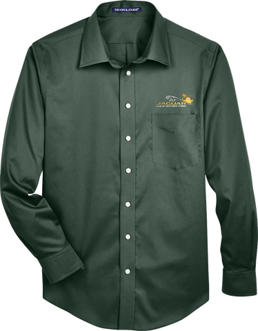 Jaguar Club of Southwest Florida Mens Long Sleeve Twill Pocket Shirt