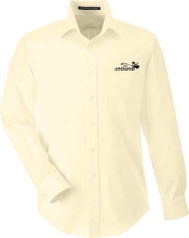 Jaguar Club of Southwest Florida Mens Long Sleeve Solid Stretch Twill