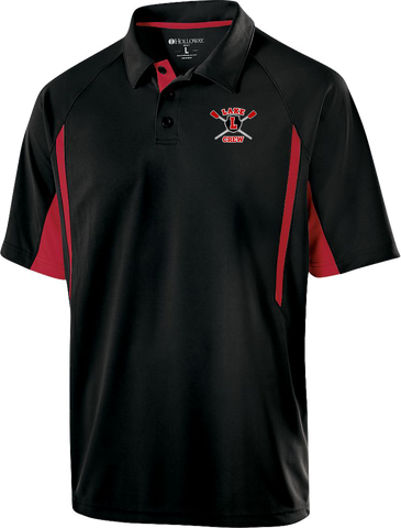 Lake Crew Embroidered Color Blocked Dri-Fit Polo