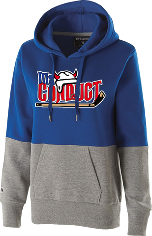 Ms. Conduct Hockey Printed Ladies Colorblock Hoodie