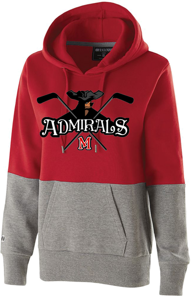 Admirals Hockey Printed Ladies Colorblock Hoodie
