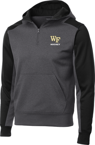 Wake Forest Colorblock 1/4-Zip Hooded Sweatshirt