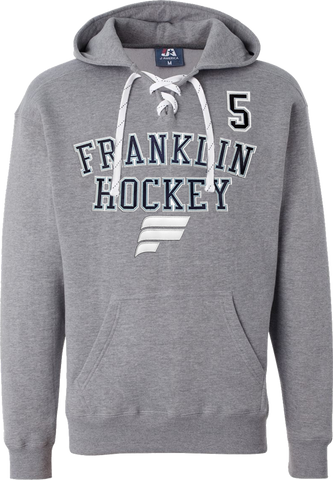 Franklin Flyers Hockey Lace Hoodie w/ Player Number