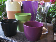 Range of pots and vases